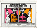 Movie Posters:Western, A Fistful of Dollars/For a Few Dollars More Combo (United Artists,R-1969). Folded, Fine/Very Fine. Day-Glo British Quad (30...