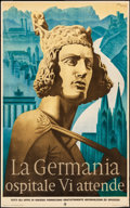 Movie Posters:Miscellaneous, La Germania (Reichsbahn Center for German Travel, 1930s). Rolled,Fine/Very Fine. Italian Language German Travel Poster (24....