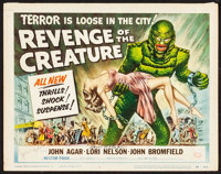 """Revenge of the Creature (Universal International, 1955). Fine/Very Fine. Autographed Title Lobby Card (11"""" X 14&quo..."""