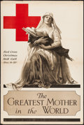 "Movie Posters:War, World War I Propaganda (The Atlantis Press, 1917). Poster (28"" X 42""). ""The Greatest Mother in the World."" War.. ..."