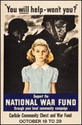 Movie Posters:War, World War II Propaganda (National War Fund, 1940s). Fine/V...