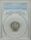 1878-CC 10C -- Environmental Damage -- PCGS Genuine. VG Details. NGC Census: (3/59). PCGS Population: (22/149). CDN: $17...