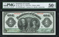 Canadian Currency, DC-18c $1 3.1.1911 PMG About Uncirculated 50 EPQ.. ...