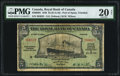 Canadian Currency, Port of Spain, Trinidad- The Royal Bank of Canada $5 3.1.1938 Pick S151b Ch # 630-68-02 PMG Very Fine 20 Net.. ...