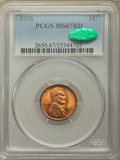 1936 1C MS67 Red PCGS. CAC. PCGS Population: (305/0). NGC Census: (654/1). CDN: $150 Whsle. Bid for problem-free NGC/PCG...