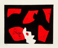 Charlie Hewitt (b. 1946) Untitled, c. 1995 Woodcut in colors on wove paper 20 x 24 inches (50.8 x