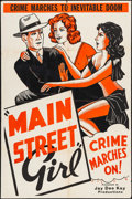 Movie Posters:Drama, Main Street Girl & Other Lot (Monogram, 1945). Folded, Fin...