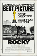 "Movie Posters:Academy Award Winners, Rocky (United Artists, 1977).Folded, Fine/Very Fine. One Sheet (27""X 41"") Academy Awards Style B. Academy Award Winners.. ..."