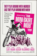 "Movie Posters:Exploitation, The Mini-Skirt Mob (American International, 1968). Very Fine-. One Sheet (27"" X 41""). Exploitation.. ..."