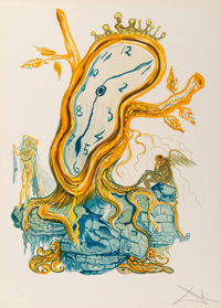 Salvador Dalí (1904-1989) Stillness of Time, from Time, 1976 Photolithograph in color on Arches pape