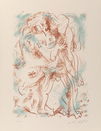 André Masson (1896-1987) Untitled, from the Flight Portfolio, 1970 Lithograph in colors o