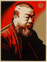 Shepard Fairey (American, b. 1970) Ai Weiwei X Cost of Expression, 2014 Screenprint in colors on cre