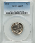 Buffalo Nickels, 1915 5C MS67 PCGS....
