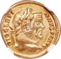 Ancients:Roman Imperial, Ancients: Diocletian (AD 284-305). AV aureus (19mm, 5.36 gm, 6h). NGC Choice AU 5/5 - 2/5, marks....