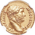 Ancients:Roman Imperial, Ancients: Hadrian (AD 117-138). AV aureus (18mm, 7.06 gm, 7h). NGCChoice XF 5/5 - 4/5, Fine Style....