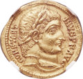 Ancients:Roman Imperial, Ancients: Constantine I the Great (AD 307-337). AV solidus (20mm, 4.47 gm, 11h). NGC MS 5/5 - 2/5, marks....