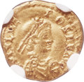Ancients:Roman Imperial, Ancients: Julius Nepos, Western Roman Empire (AD 474-75/80). AV tremissis (13mm, 1.45 gm, 6h). NGC XF 4/5 - 3/5....