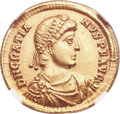 Ancients:Roman Imperial, Ancients: Gratian (AD 367-383). AV solidus (21mm, 4.50 gm, 6h). NGC Choice XF 5/5 - 4/5....