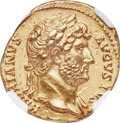 Ancients:Roman Imperial, Ancients: Hadrian (AD 117-138). AV aureus (19mm, 7.32 gm, 6h). NGC Choice AU 5/5 - 3/5, Fine Style, marks....