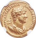 Ancients:Roman Imperial, Ancients: Hadrian (AD 117-138). AV aureus (19mm, 7.22 gm, 6h). NGC XF 5/5 - 3/5....
