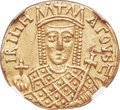 Ancients:Byzantine, Ancients: Constantine VI and Irene (AD 780-797). AV solidus (20mm,4.46 gm, 7h). NGC AU 5/5 - 3/5, marks....