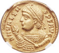 Ancients:Roman Imperial, Ancients: Valens (AD 364-378). AV solidus (21mm, 4.43 gm, 11h). NGCXF 5/5 - 4/5....