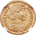 Ancients:Roman Imperial, Ancients: Constans, as Augustus (AD 337-350). AV solidus (22mm, 4.51 gm, 5h). NGC MS 5/5 - 4/5....