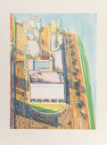 Wayne Thiebaud (b. 1920) Untitled (City Views), c. 2003 Lithograph in colors on wove paper 23-3/4