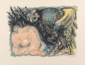 Prints & Multiples, Edouard Pignon (1905-1993). Untitled, from Flight Portfolio, 1967. Lithograph in colors on Arches paper. 19-3/4 x 25...