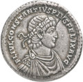 Ancients:Roman Imperial, Ancients: Constantius II, as Augustus (AD 337-361). AR medallion of four heavy siliquae or three light miliarenses (38mm, 13.33 gm, 6h)....