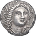 Ancients: LUCANIA. Metapontum. Ca. 330-280 BC. AR stater or nomos (19mm, 7.68 gm, 9h). NGC Choice XF 5/5 - 4/5, Fine Sty...