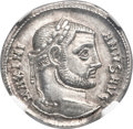 Ancients:Roman Imperial, Ancients: Galerius (AD 305-311). AR argenteus (19mm, 3.20 gm, 6h). NGC Choice AU ★ 5/5 - 5/5....