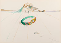 Salvador Dalí (1904-1989) Desert Bracelet, from Time, 1976 Lithograph in colors on Arches