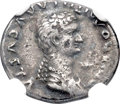Ancients:Roman Imperial, Ancients: Domitilla the Younger (died before AD 69). AE/AR fourrée denarius (18mm, 2.52 gm, 7h). Choice VF 4/5 - 1/5, core visible....