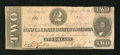 Confederate Notes:1863 Issues, T61 $2 1863. A moisture stain covers approximately the rightone-third of this $2. About Uncirculated....