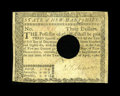 Colonial Notes:New Hampshire, New Hampshire April 29, 1780 $3 PMG Fine 12 Net....