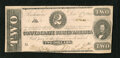 Confederate Notes:1862 Issues, T54 $2 1862. Just a little handling is noticed on this note. AboutUncirculated....