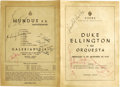 Music Memorabilia:Autographs and Signed Items, Duke Ellington Signed Program. A program book for a September 11,1968, performance by the Duke Ellington Orchestra in Urugu...