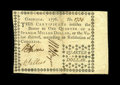 Colonial Notes:Georgia, Georgia 1776 $1/4 Extremely Fine-About New. A gorgeous Georgia froma scarce two-note issue. The note has virtually no circu...