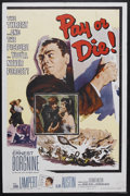 "Movie Posters:Crime, Pay or Die (Allied Artists, 1960). One Sheet (27"" X 41""). Crime.Starring Ernest Borgnine, Zohra Lampert, Alan Austin and Re..."