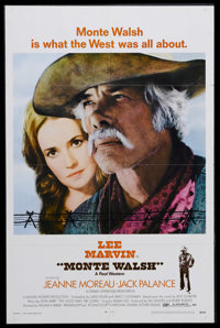 "Monte Walsh (National General, 1970). One Sheet (27"" X 41""). Western. Starring Lee Marvin, Jean Moreau, Jack P..."