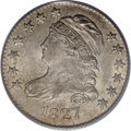 Bust Dimes: , 1827 10C MS64 PCGS. JR-11, R.2. On this variety, star 7 points tothe upper edge of the headband, star 13 is repunched, the...