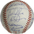Autographs:Baseballs, 1982 Milwaukee Brewers Team Signed World Series Baseball. The 1982AL Pennant-winning Milwaukee Brewers are represented her...