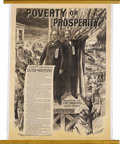 """Political:Posters & Broadsides (1896-present), McKinley & Hobart: A Rare Huge 36"""" x 48"""" Jugate Poster from the1896 Campaign. Distributed by Edwards, Deutsch, and Heitmann..."""