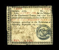 Colonial Notes:Georgia, Georgia September 10, 1777 $7 Very Fine. The colored seal is razorsharp, showing every detail of the caduceus, liberty pole...