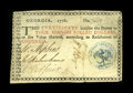 Colonial Notes:Georgia, Georgia 1776 $4 Very Fine-Extremely Fine. This is a problem-free example, with excellent margins, strong signatures, and a d...