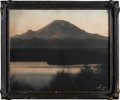 """Photography:Signed, Asahel Curtis Original Hand Tinted Photo """"Dawn"""" in original """"pie crust"""" frame, signed """"© 1911 ASAHEL CURTIS"""" in the lower ri..."""