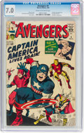 Silver Age (1956-1969):Superhero, The Avengers #4 (Marvel, 1964) CGC FN/VF 7.0 Cream to off-...