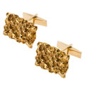 Estate Jewelry:Cufflinks, Gold Cuff Link. ...