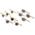 Estate Jewelry:Cufflinks, Lapis Lazuli, Mother-Of-Pearl, Seed Pearl, Gold Shirt Stud Sets. ... (Total: 10 Items)